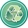 Eco-value icon - Recycled Material | Ethic & chic