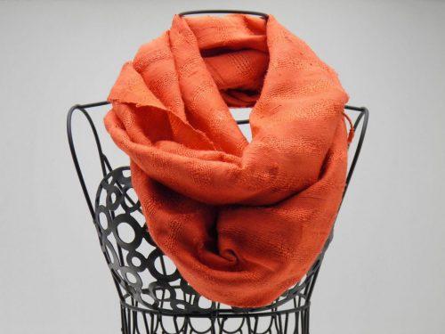 Le Soyeux - Foulard soie sauvage - Orange