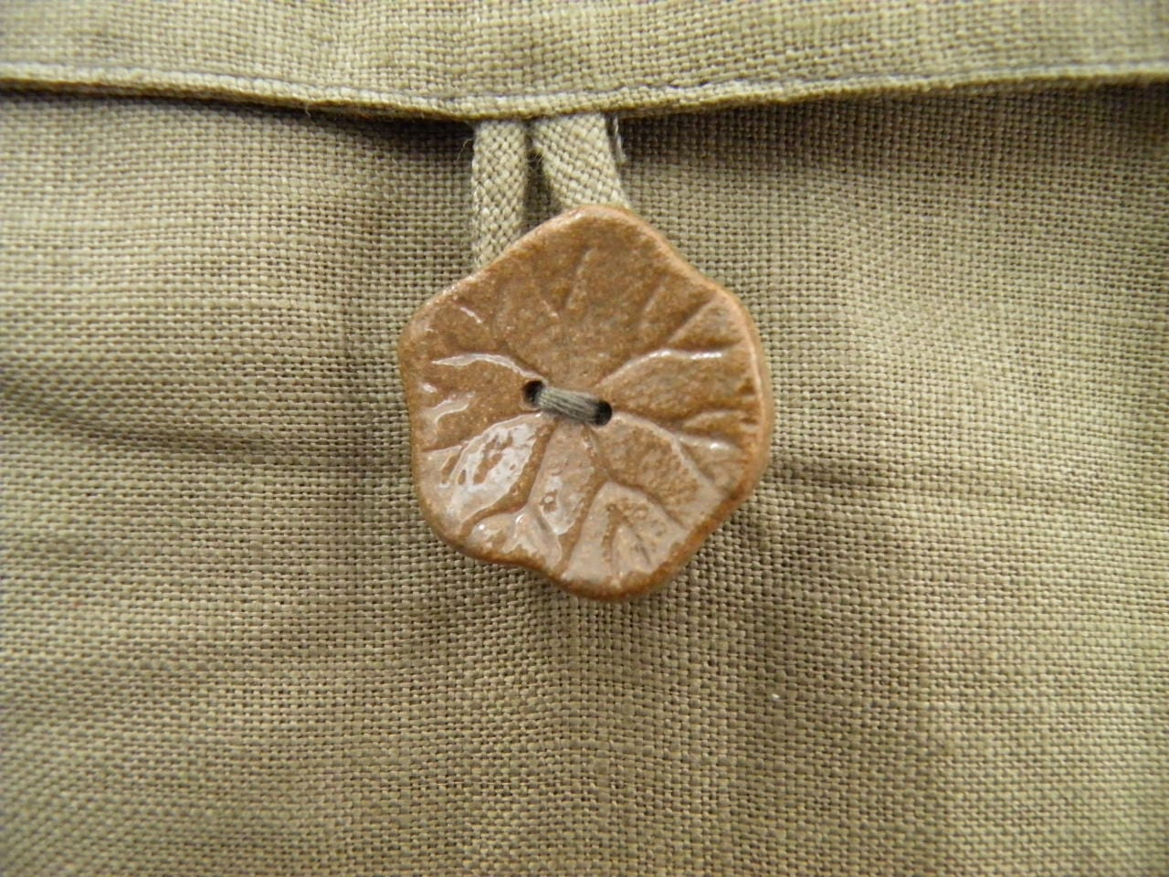 Cocoon Cushion Cover - Orange - ceramic button