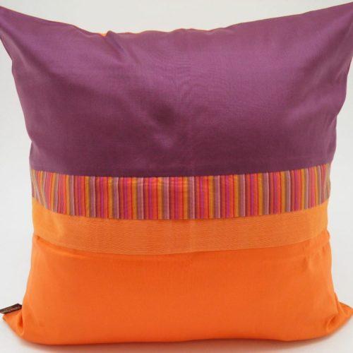 Charming Cushion Cover - Aubergine / Orange - 45x45cm
