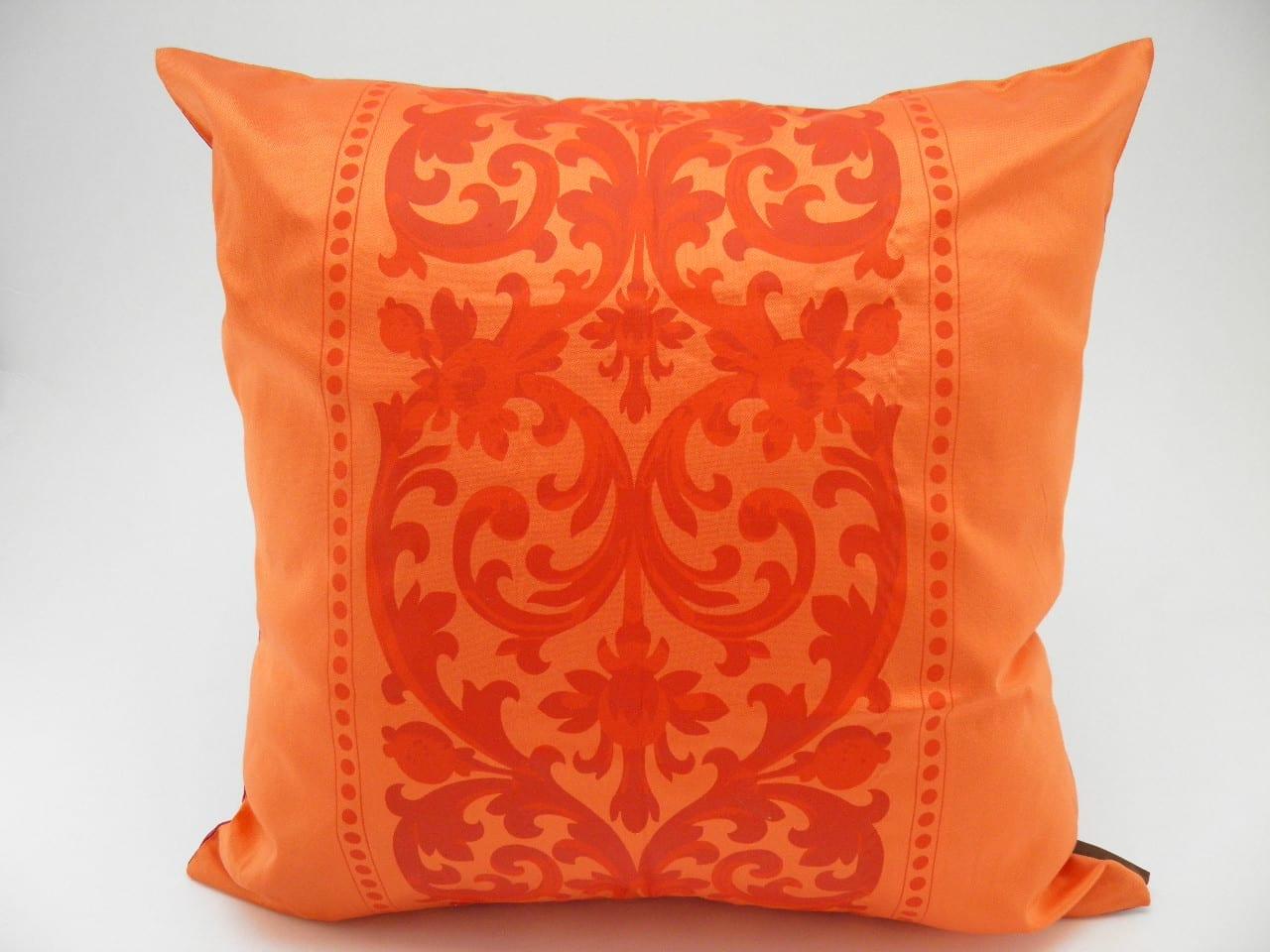 Angkor Cushion Cover – 2 in 1 - Fuchsia / Orange - 45x45cm