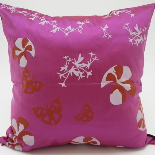 Water Lily Cushion Cover – 2 In 1 - Red / Violet - 45x45cm
