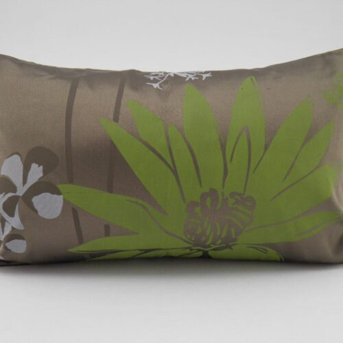 Coussin Lotus – 2 En 1 - Bronze / Anis - 45x27cm