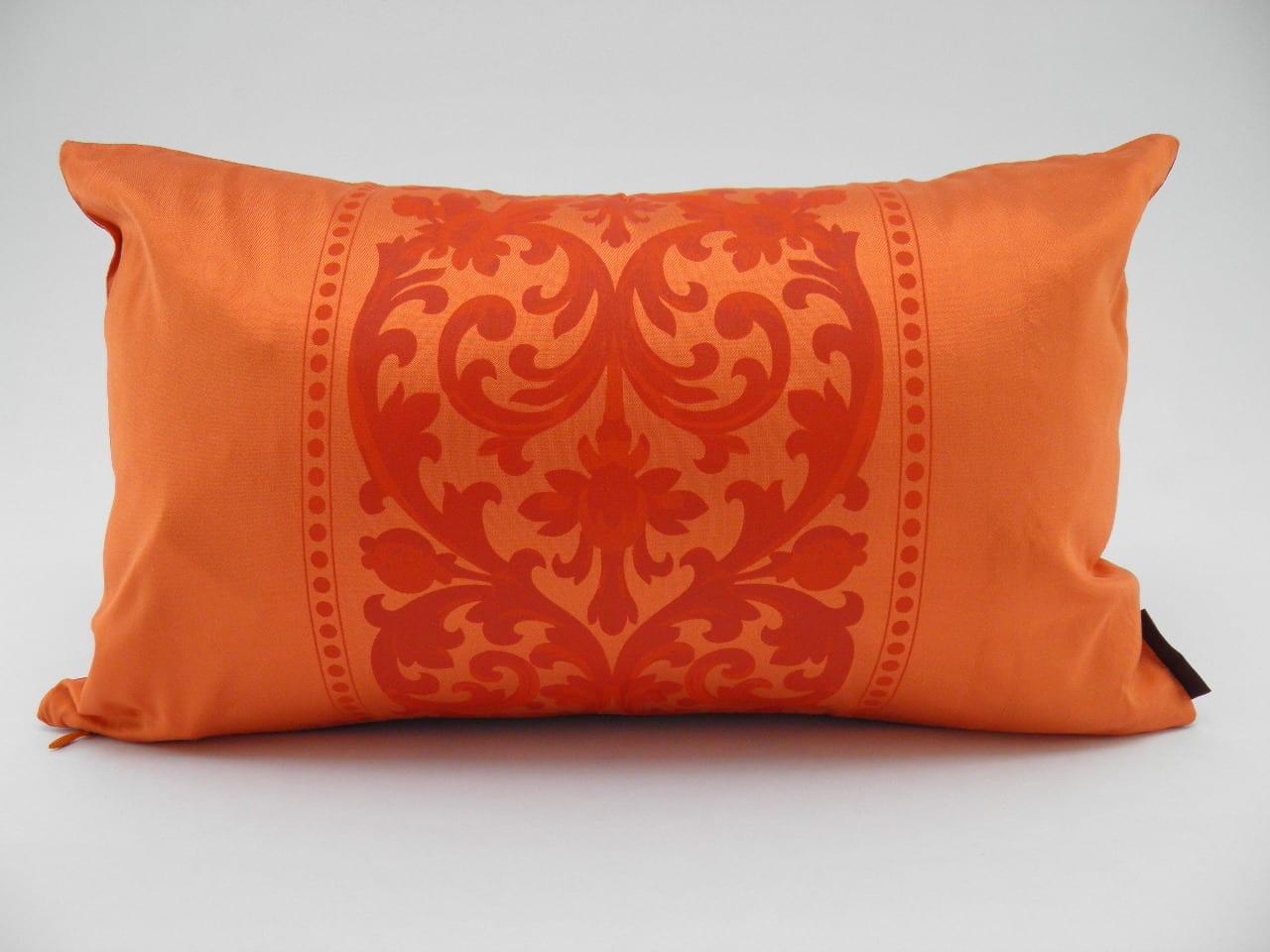 Angkor Cushion Cover – 2 in 1 - Fuchsia / Orange - 45x27cm