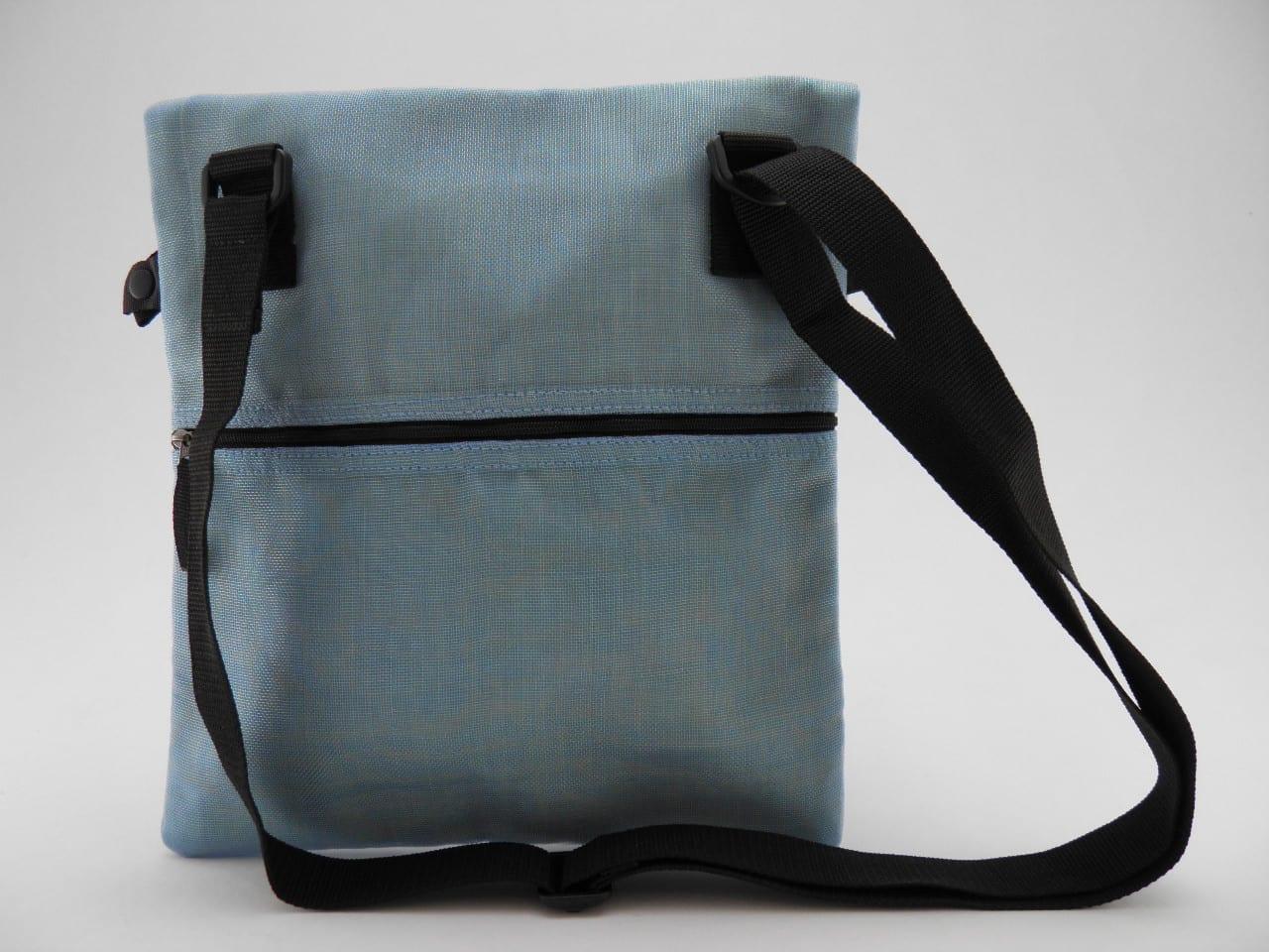BIT - Square Ethical Bag - Light blue - verso