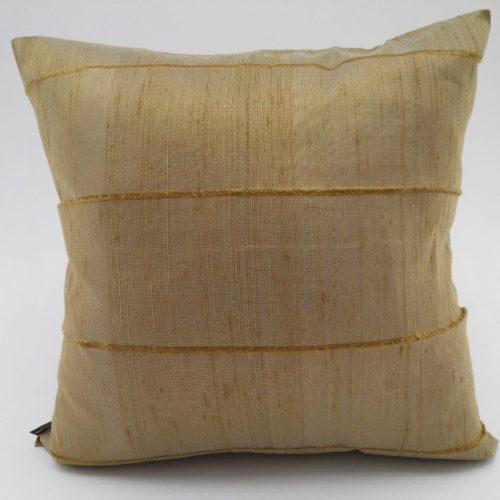Slited Raw Silk Cushion Cover - Mushroom - 42x42cm
