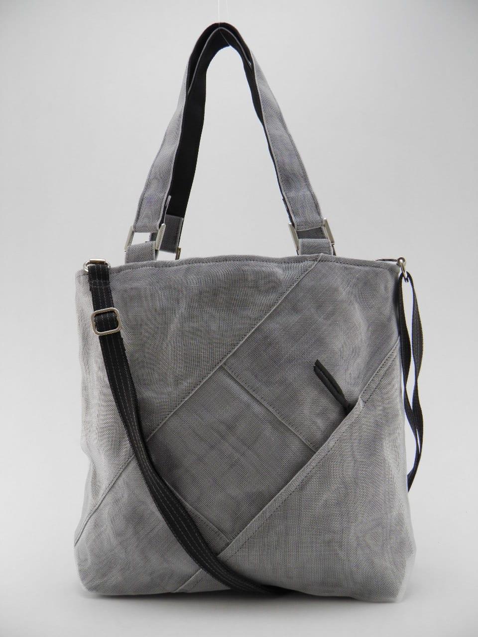 FAQ – Ethical Handbag - Medium - Gray - strap