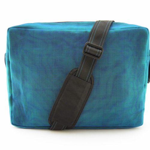 Header - Shoulder bag - Oil blue - verso