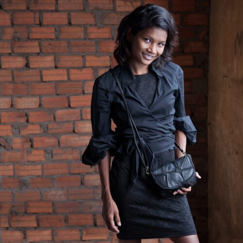 Split - Eco-friendly Leather Evening Bag