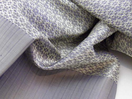 Écharpe Gala - Brocart de soie - Argent - détail
