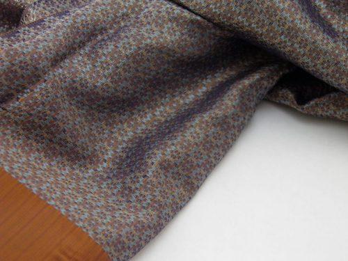 Écharpe Gala - Brocart de soie - Cuivre - détail