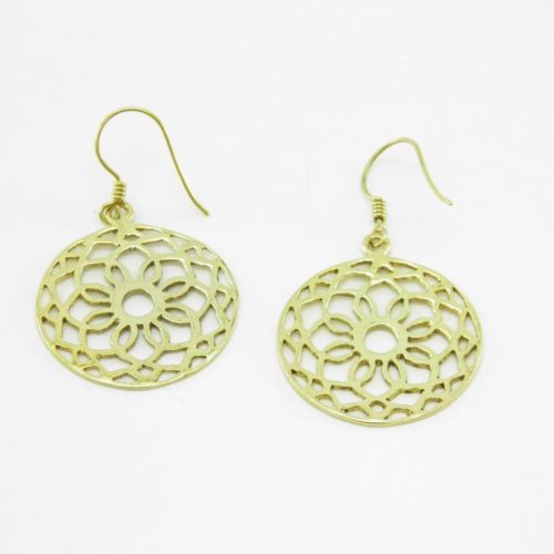 Earrings Rosette – Recycled Brass