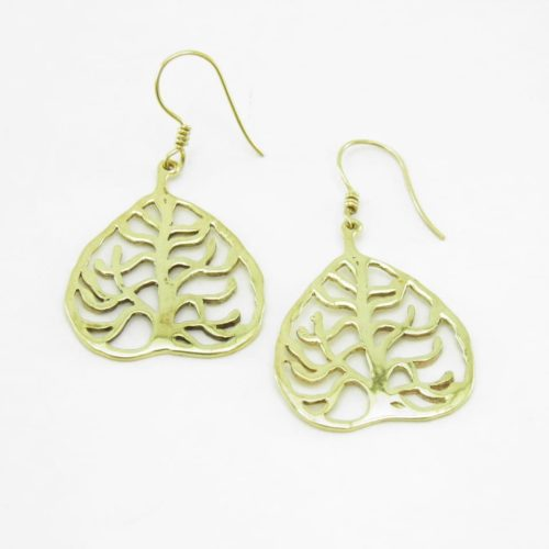 Earrings Recycled Brass – Buddha Tree