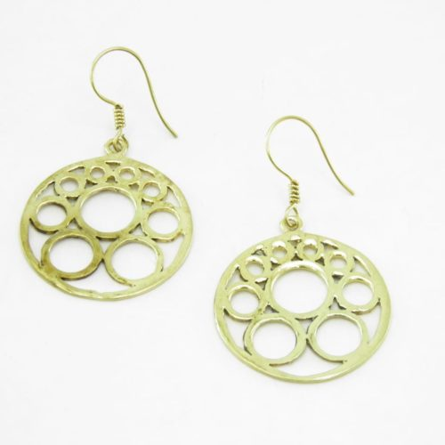 Earrings Bubbles – Recycled Brass