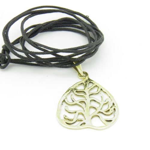 Buddha Tree Pendant Recycled Brass