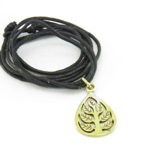 Buddha Leaf Pendant – Recycled Brass
