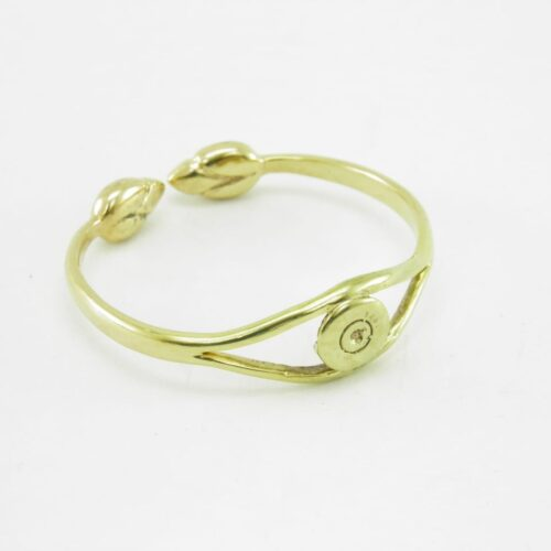 Bracelet Recycled Brass – Cartridge Base And Lotus