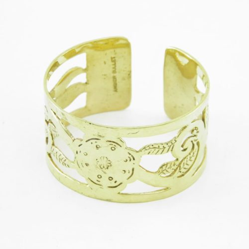 Recycled Brass Bracelet – Traditional Pattern