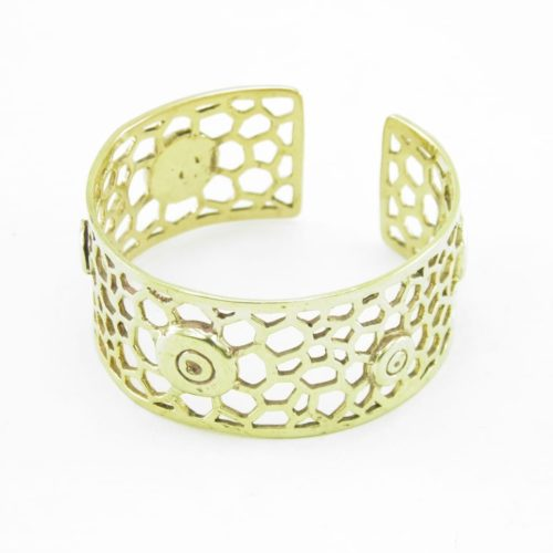 Recycled Brass Bracelet – Bees Nest And Bullet Rim