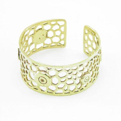 Recycled Brass Bracelet – Bees Nest
