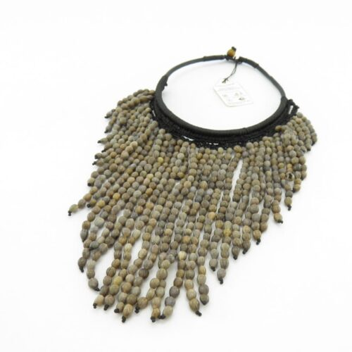 Leather Short – Natural Seeds Necklace