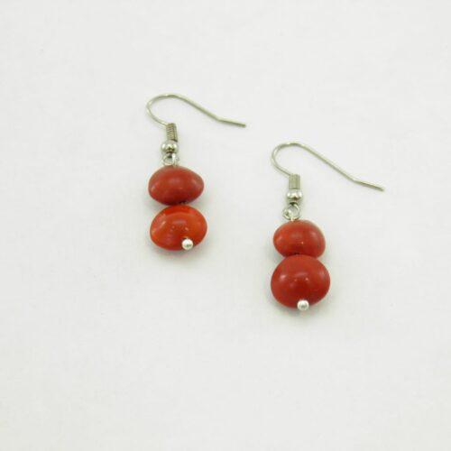 Earring Short - Natural Seeds Earrings - Red