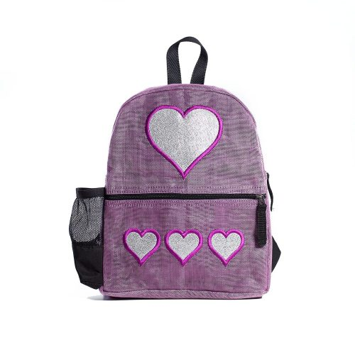 Aster - ethical backpack - Heart - Small - Lilac