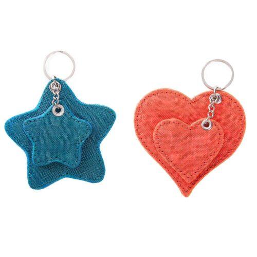 TIP – Ethical Key Ring Star Or Heart