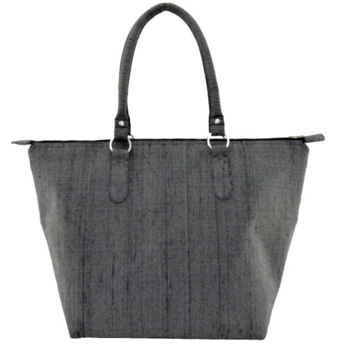 Leisure Raw Silk Handbag