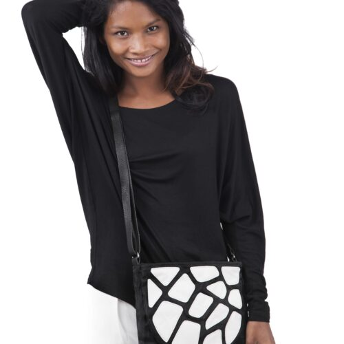 Edge - Eco-friendly Leather Crossbody Bag - White