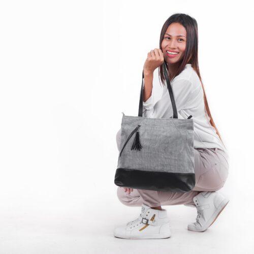 Planner - Ethical Shoulder Bag - Gray
