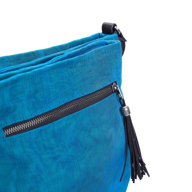 Away - Ethical Crossbody bag - Oil blue - detail