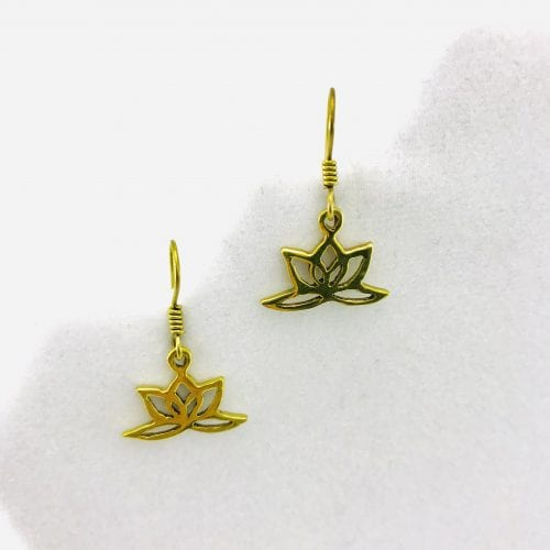 Earrings Lotus Design