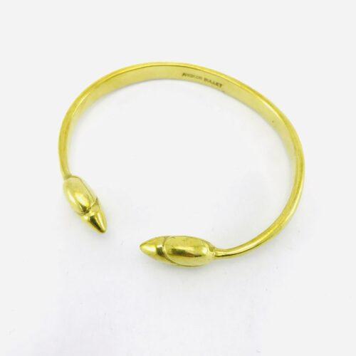 Lotus Bud Bracelet – Recycled Brass