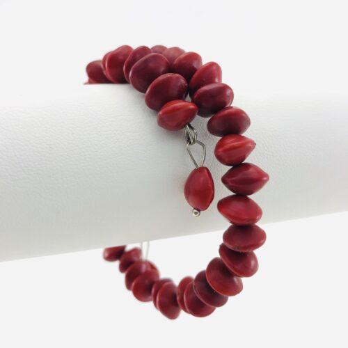 Le Spirale 1 Tour - Bracelet Graines Naturelles - Rouge