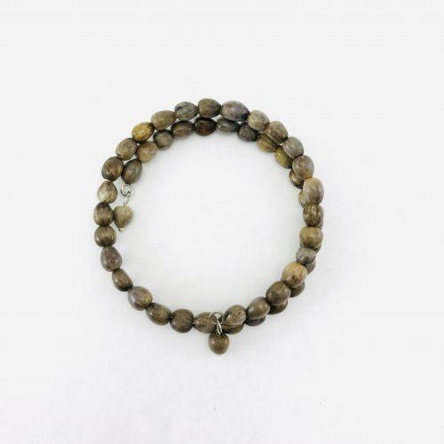 Le Spirale 1 tour - Bracelet graines naturelles - Brun
