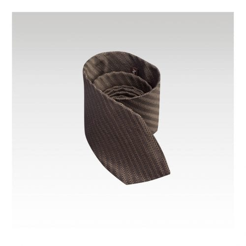 Stripe Chorebab Silk Ties - Bronze