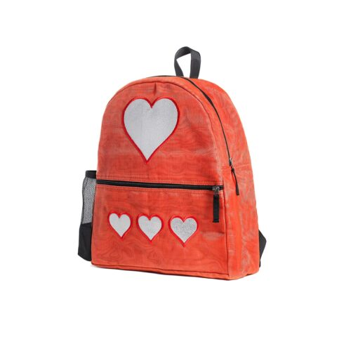 Aster – Ethical Backpack – Heart – Small – Red
