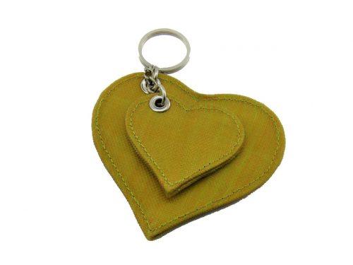 Le Porte-Clés Éthique Coeur – Jaune