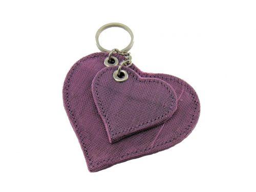 Le Porte-Clés Éthique Coeur – Lilas