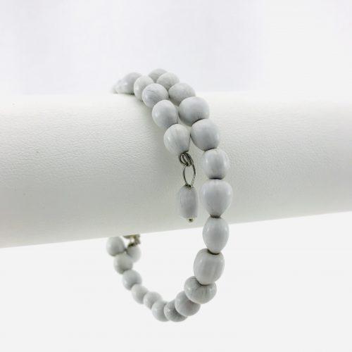 Le Spirale 1 tour - Bracelet graines naturelles - Blanc