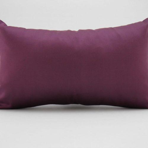 Coussin Organza – Aubergine – 45x27cm