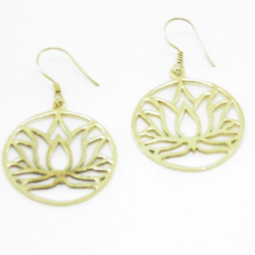 Earrings Lotus – Recycled Brass