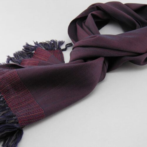 Men's Wool And Silk Scarf – Red