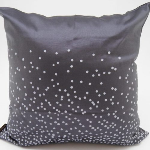 Happy Dots – Ethical Cushion Cover – Charcoal – 45x45cm
