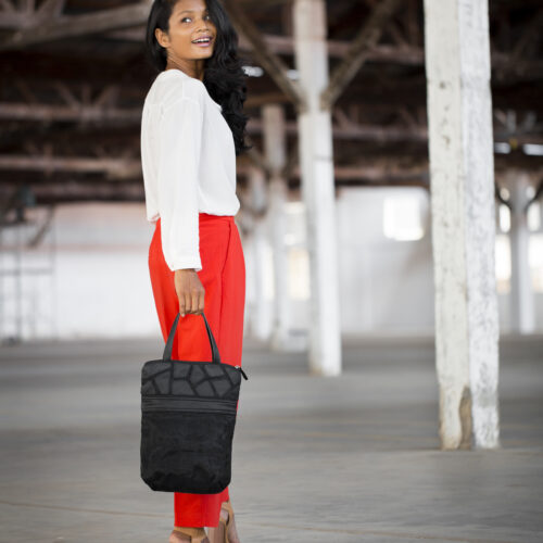 Voyager - Eco-friendly Leather Bag - Black