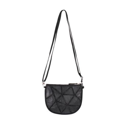 Epic – Eco-friendly Leather Crossbody Bag – Black
