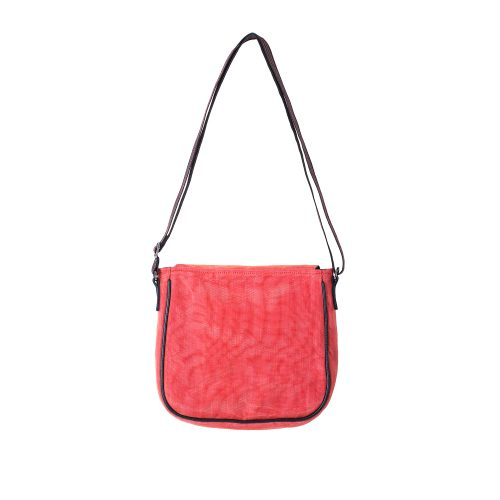 Square - Ethical Crossbody bag - Red - verso