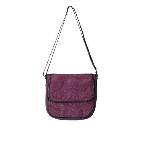 Square - Ethical Crossbody bag - Burgundy