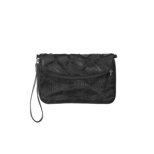 Sophea - Eco-friendly leather strap wallet - Black